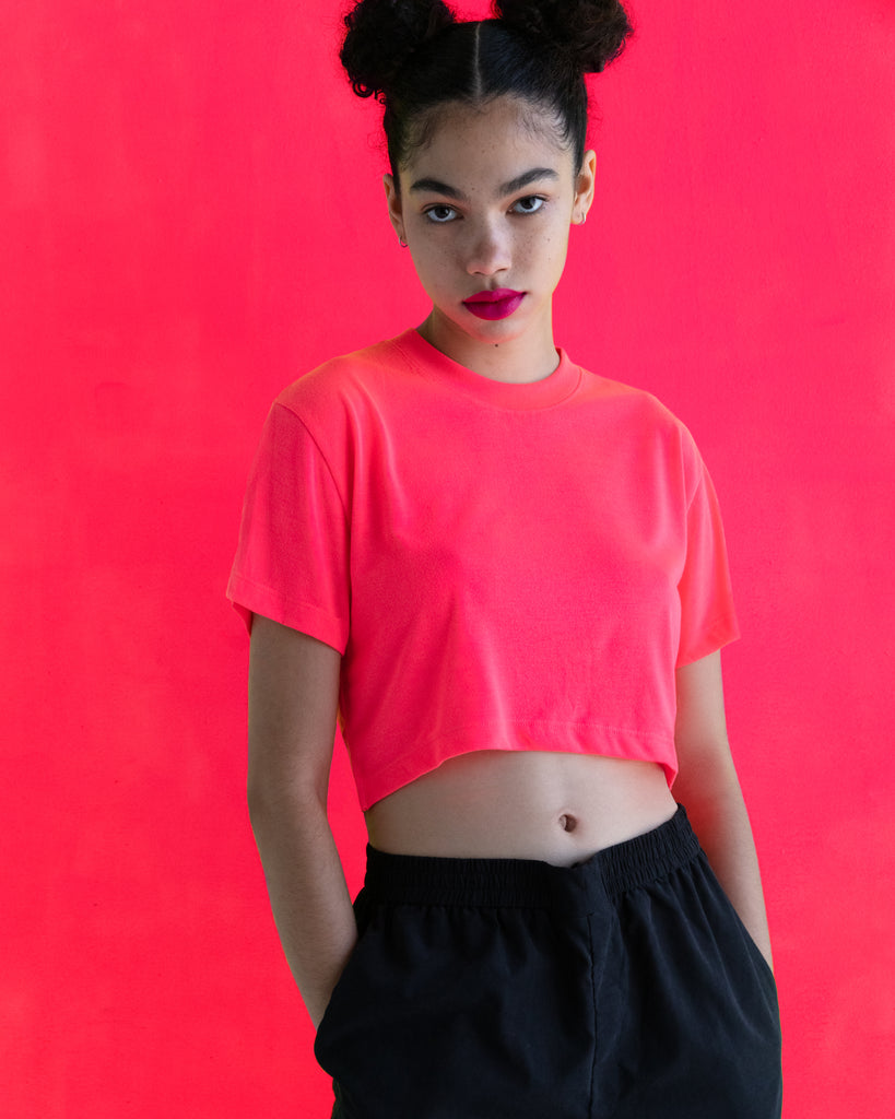 xkarla baby t-shirt neon collection pink top 2