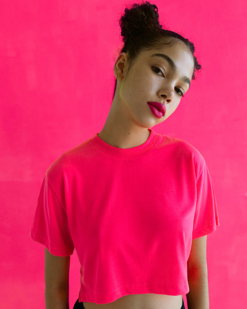 The Neon Crop in Electric Pink - x karla - x - karla - fashion - style - karla welch -