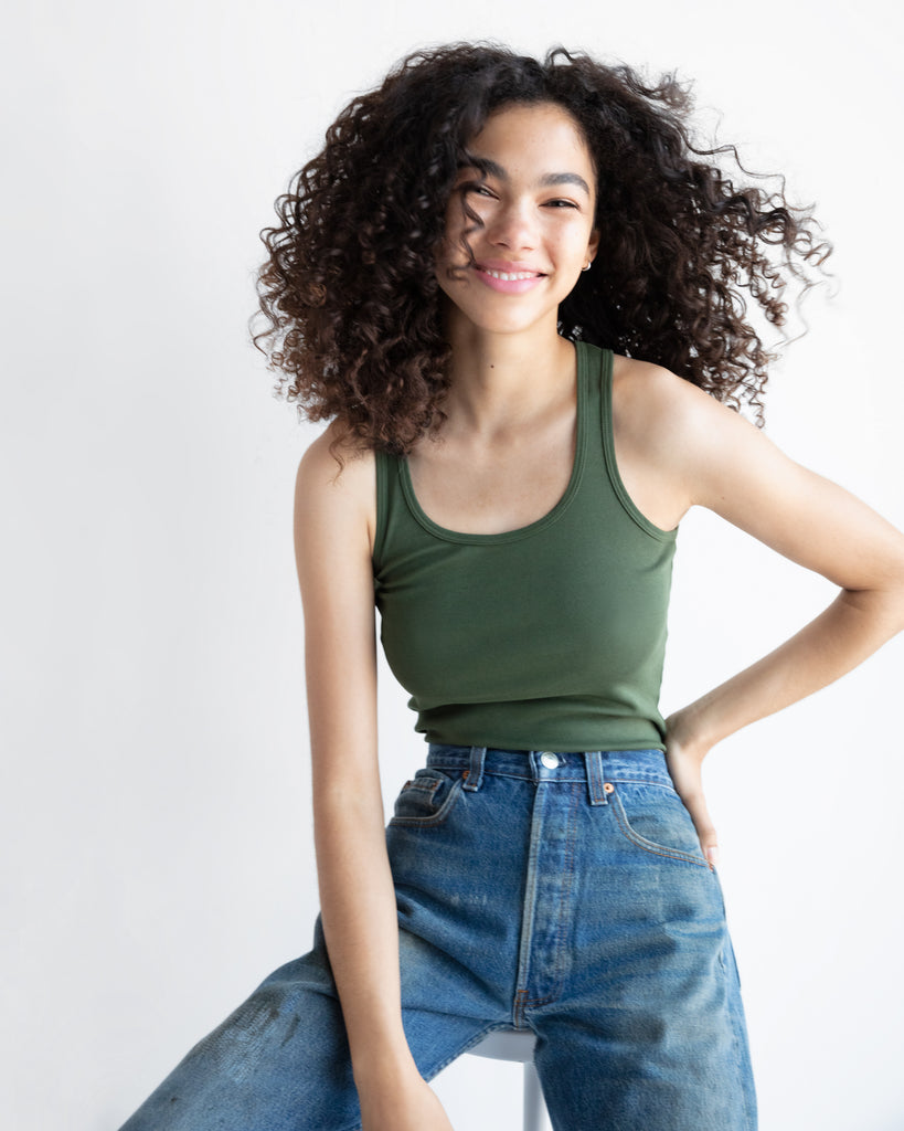 The Tank in Military Green - x karla - x - karla - fashion - style - karla welch -