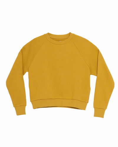 The Raglan Crew Neck in Mustard - x karla - x - karla - fashion - style - karla welch -