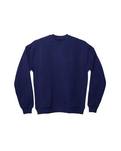 The Unisex Crew Sweatshirt in Deep Blue - x karla - x - karla - fashion - style - karla welch -