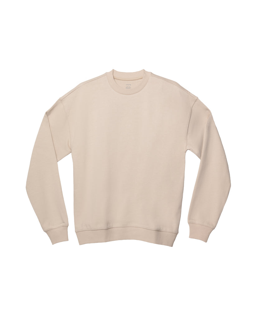 The Unisex Crew Sweatshirt in Sand - x karla - x - karla - fashion - style - karla welch -