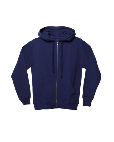 The Zip Hoodie in Deep Blue - x karla - x - karla - fashion - style - karla welch -