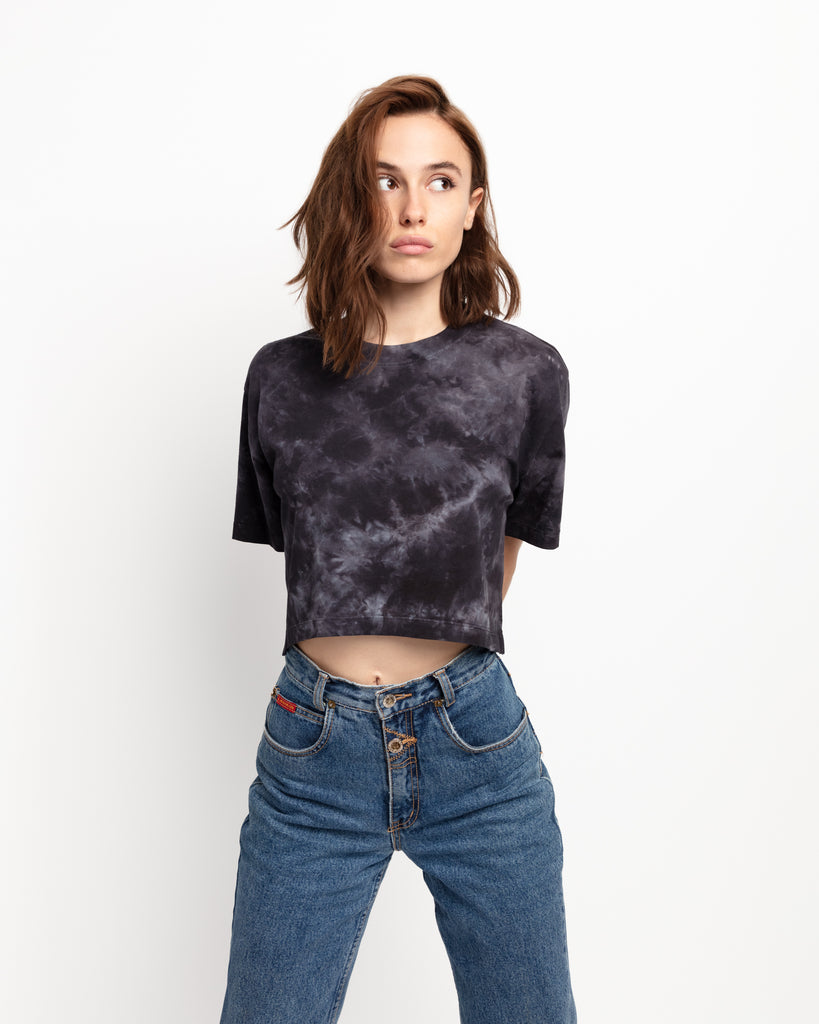The Crop in Black Cloud Wash - x karla - x - karla - fashion - style - karla welch -