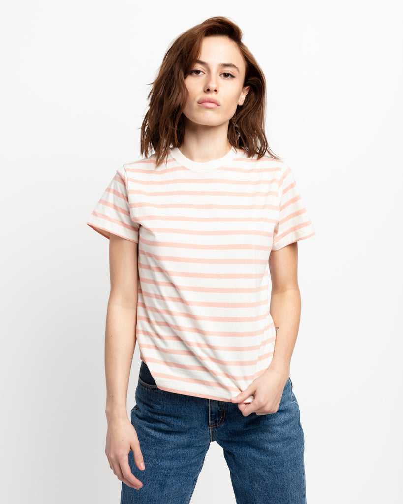 The Crew in Cream & Pink Stripe - x karla - x - karla - fashion - style - karla welch -