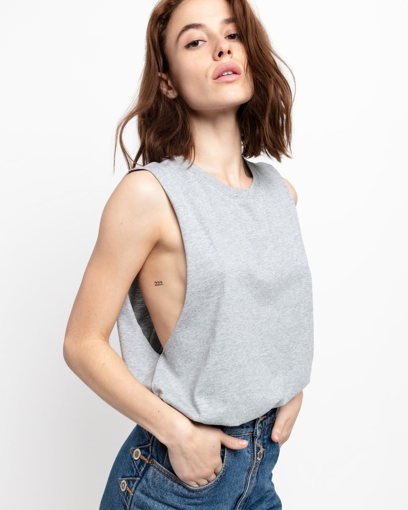 The Muscle Tank in Heather Grey - x karla - x - karla - fashion - style - karla welch -
