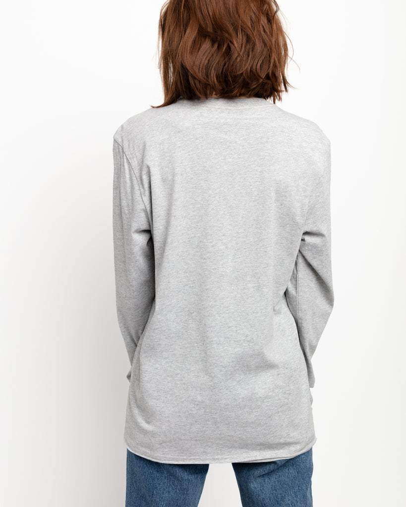The Raw Hem Long Sleeve in Heather Grey - x karla - x - karla - fashion - style - karla welch -