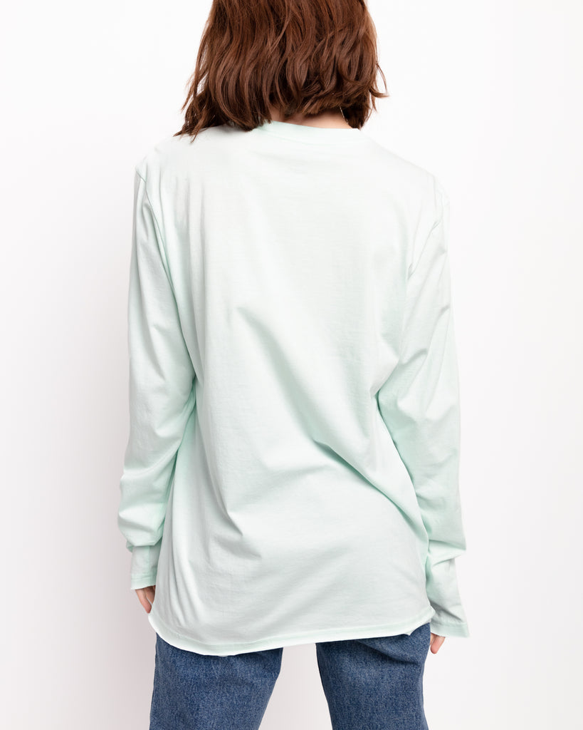 The Raw Hem Long Sleeve in Neo Mint - x karla - x - karla - fashion - style - karla welch -