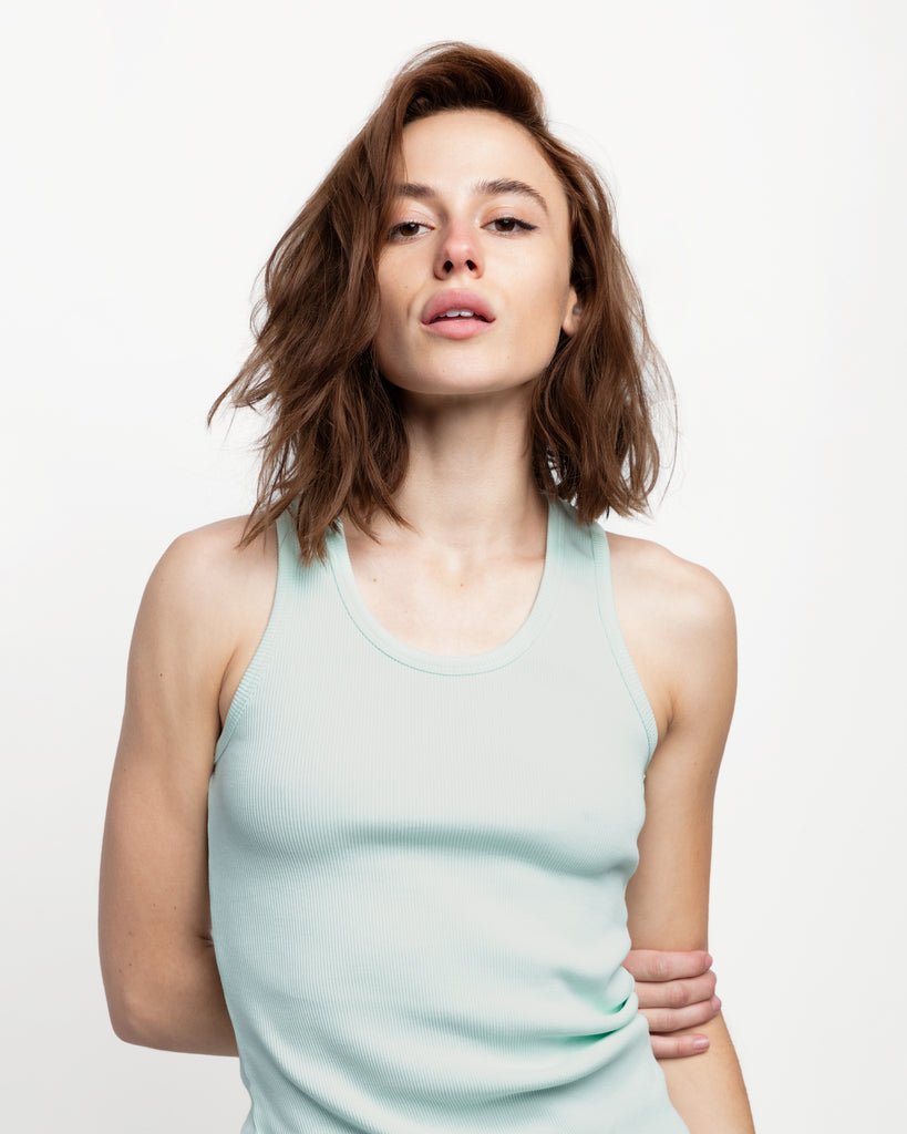 The Ribbed Tank in Neo Mint - x karla - x - karla - fashion - style - karla welch -