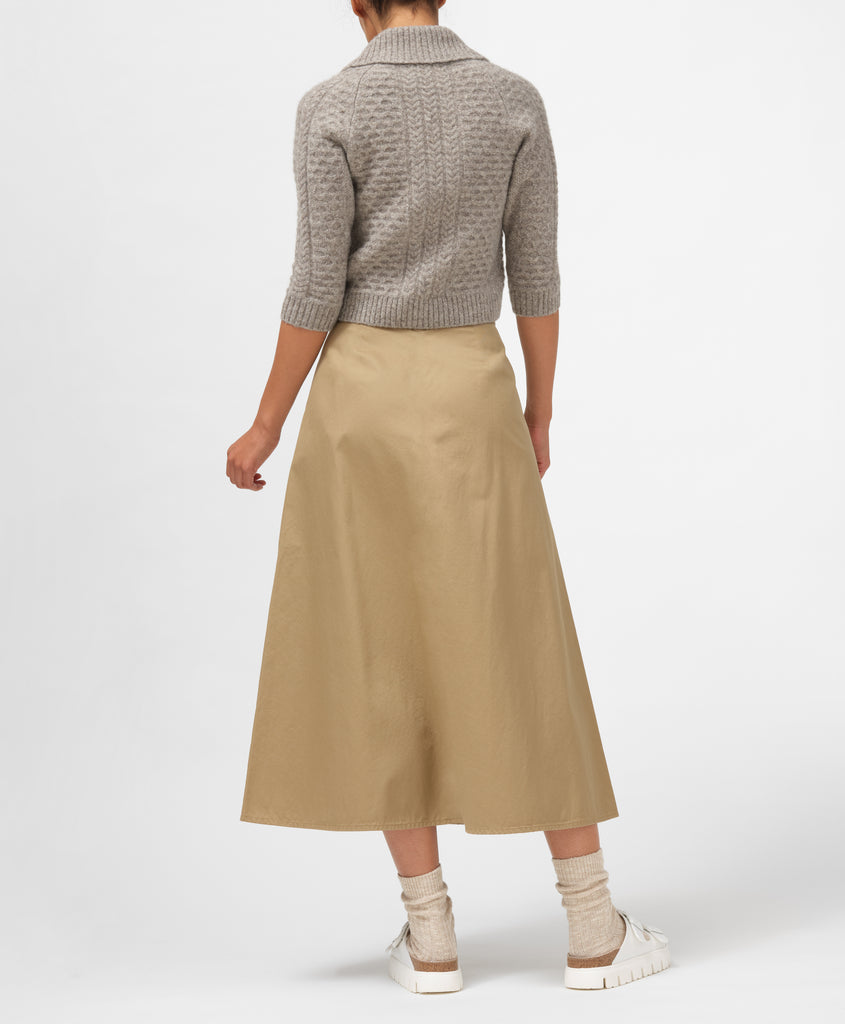 Dockers® x karla Full Skirt in Harvest Gold - x karla - x - karla - fashion - style - karla welch -