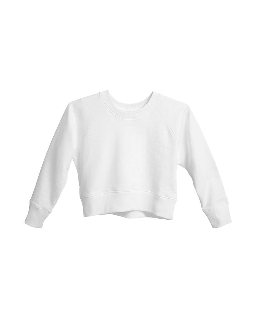 The Crop Sweatshirt in White - x karla - x - karla - fashion - style - karla welch -