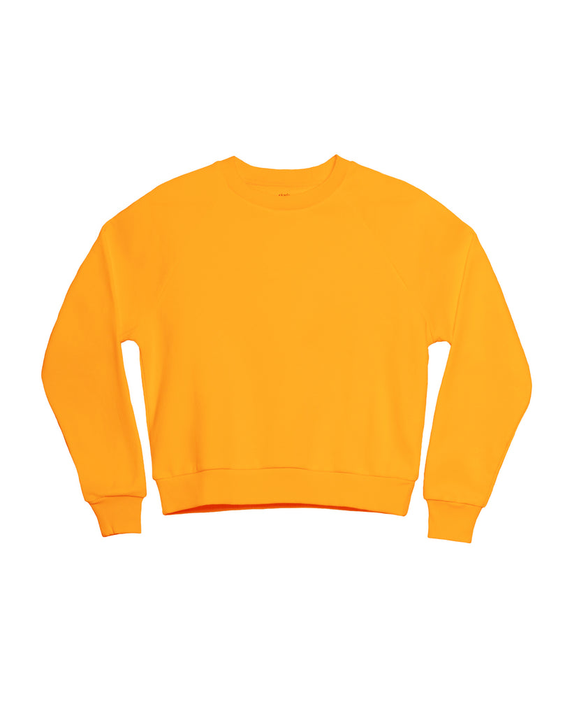 The Neon Raglan Crew Neck Sweatshirt in Safety Orange - x karla - x - karla - fashion - style - karla welch -