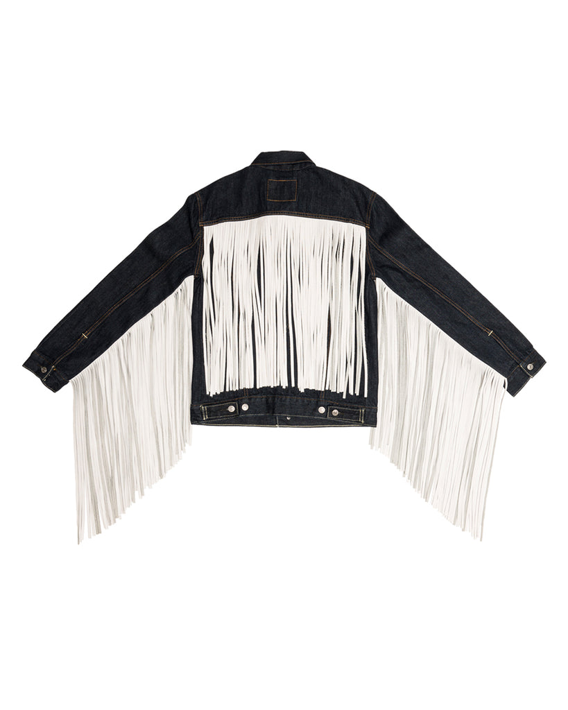 x-karla xkarla levis 501 day collection denim fringe trucker jean jacket 4