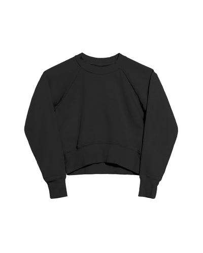 The Crop Sweatshirt in Black - x karla - x - karla - fashion - style - karla welch -
