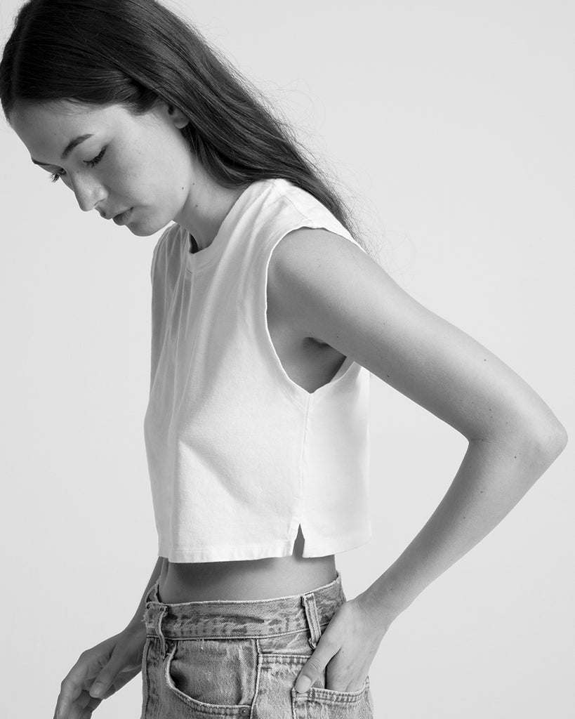 Hanes x karla The Sleeveless Crop - x karla - x - karla - fashion - style - karla welch -