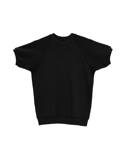 The Short Sleeve Sweatshirt in Black - x karla - x - karla - fashion - style - karla welch -