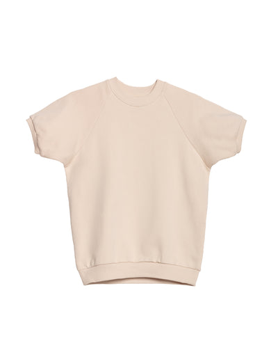 The Short Sleeve Sweatshirt in Cream - x karla - x - karla - fashion - style - karla welch -