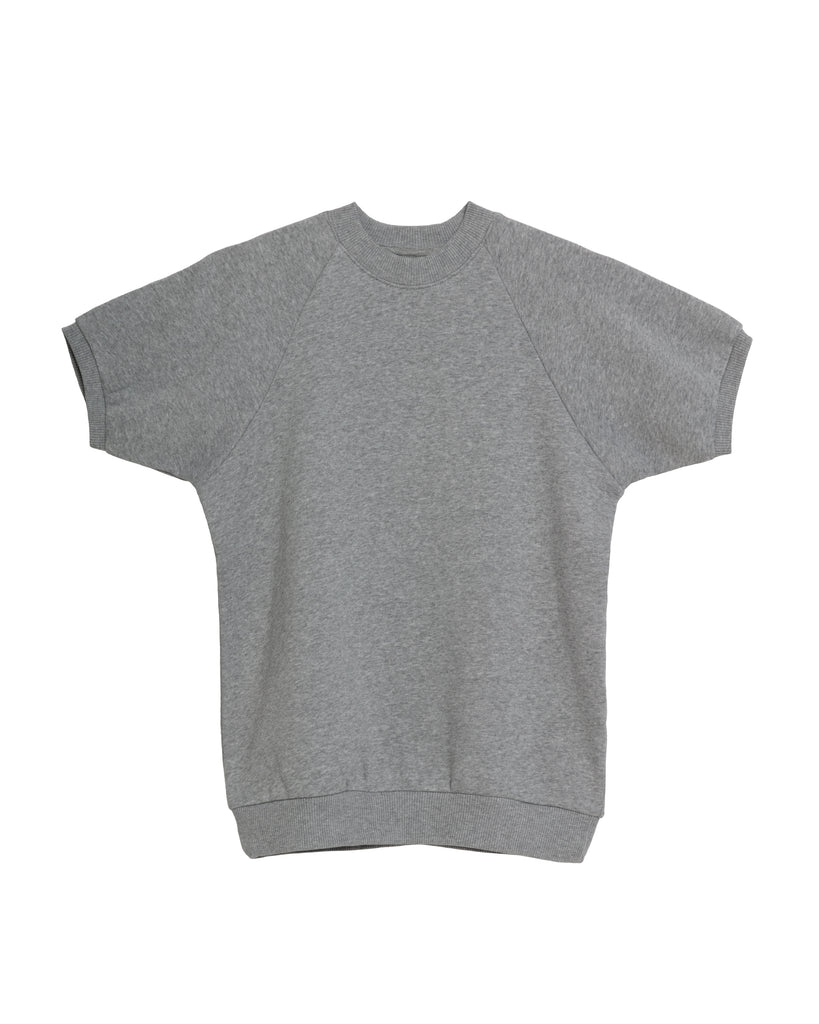 The Short Sleeve Sweatshirt in Heather Grey - x karla - x - karla - fashion - style - karla welch -
