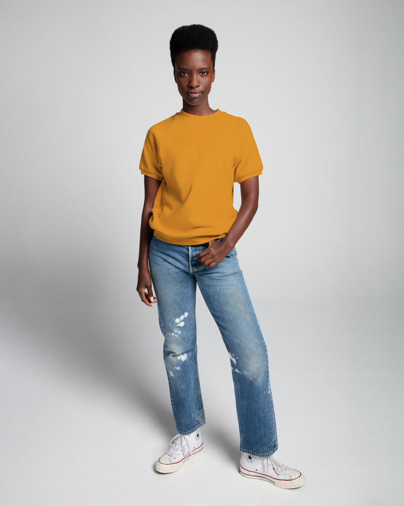 The Short Sleeve Sweatshirt (Mustard) - x karla - x - karla - fashion - style - karla welch -