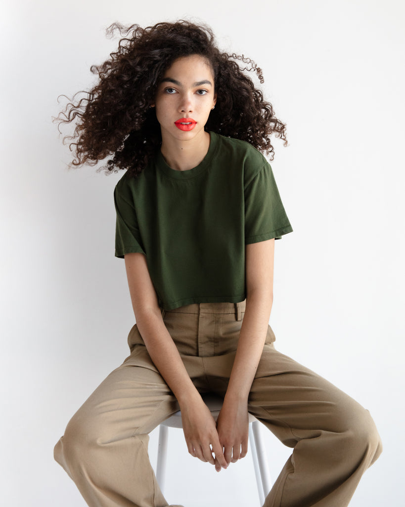 The Crop (Military Green) - x karla - x - karla -