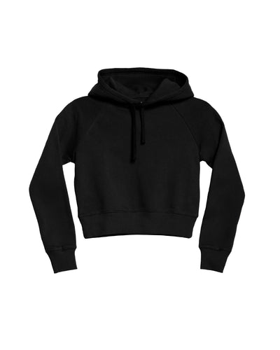 The Crop Hoodie in Black - x karla - x - karla - fashion - style - karla welch -