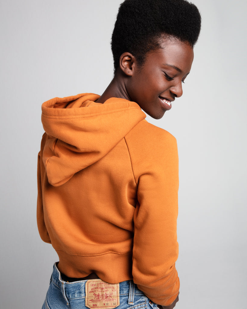 The Crop Hoodie (Bronze) - x karla - x - karla - fashion - style - karla welch -