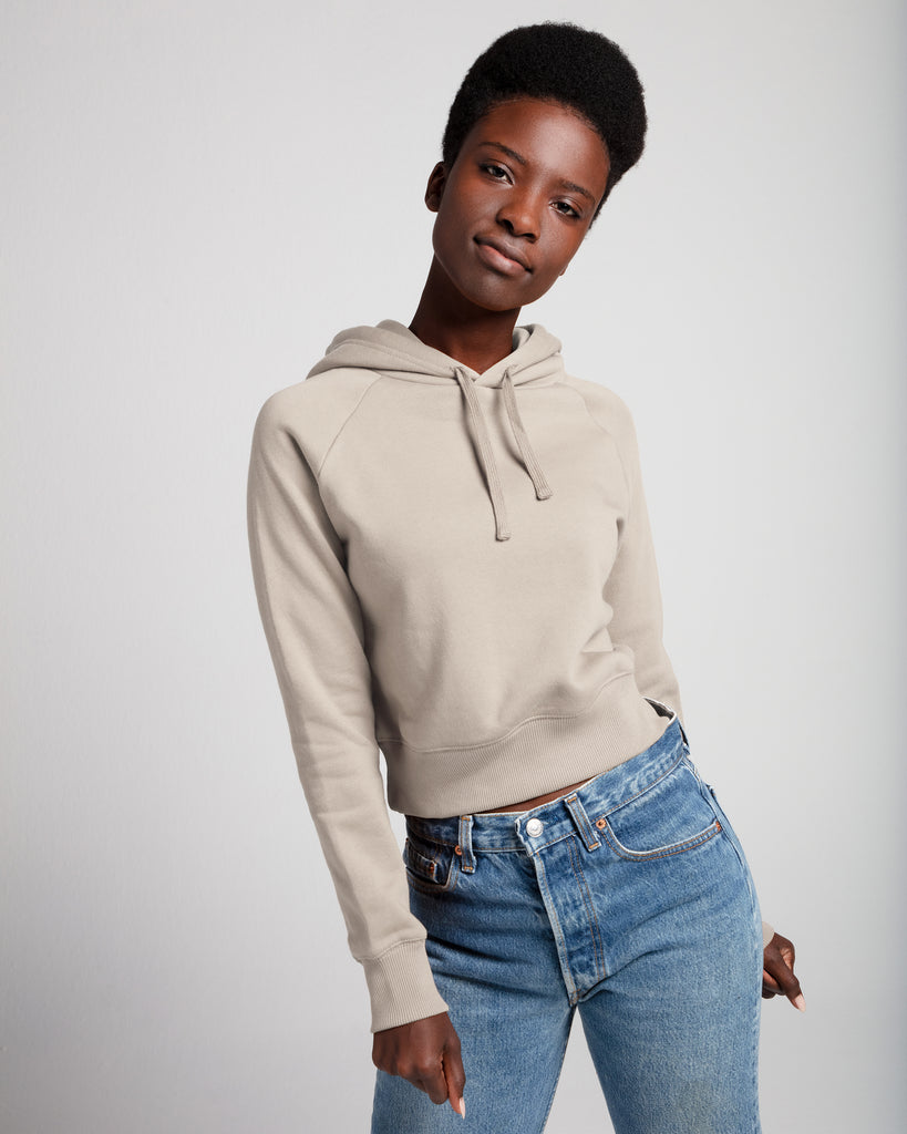The Crop Hoodie (Cream) - x karla - x - karla - fashion - style - karla welch -