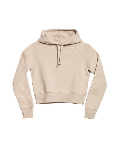 The Crop Hoodie in Cream - x karla - x - karla - fashion - style - karla welch -