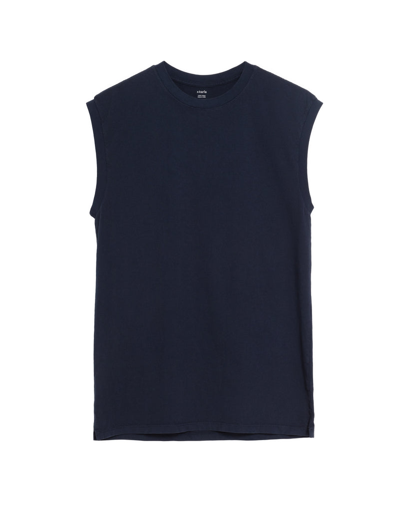 The Sleeveless in Navy - SOLD OUT - x karla - x - karla - fashion - style - karla welch -