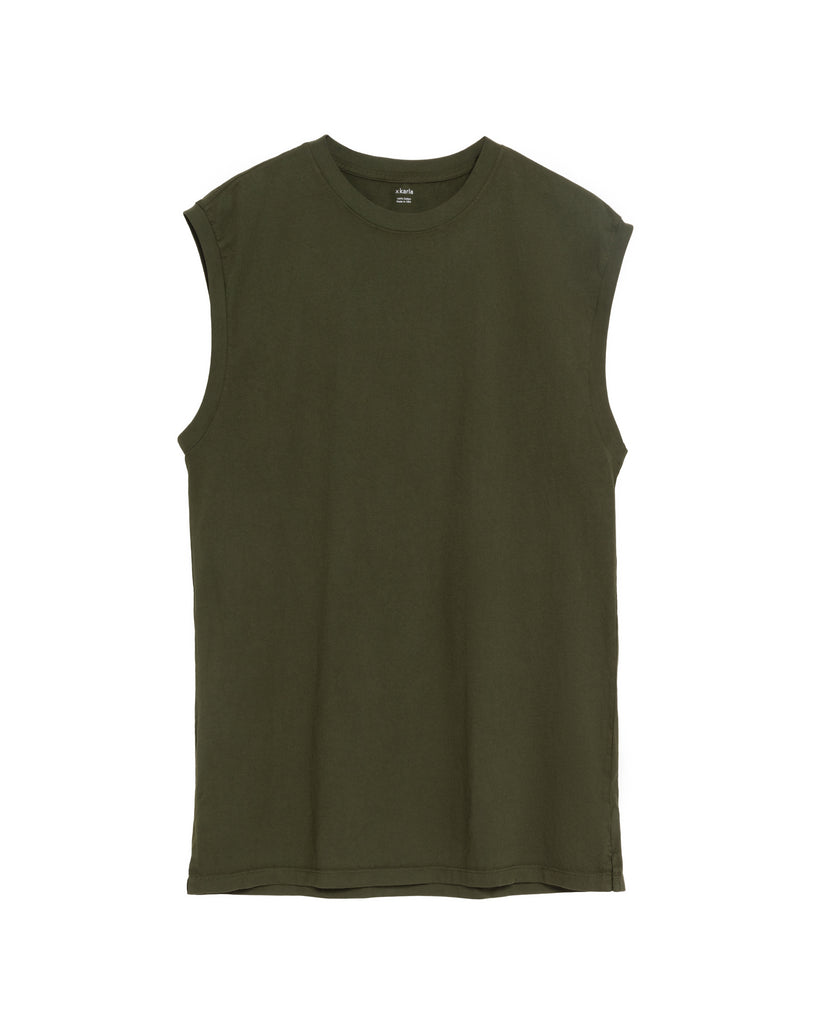 The Sleeveless in Military Green - x karla - x - karla - fashion - style - karla welch -