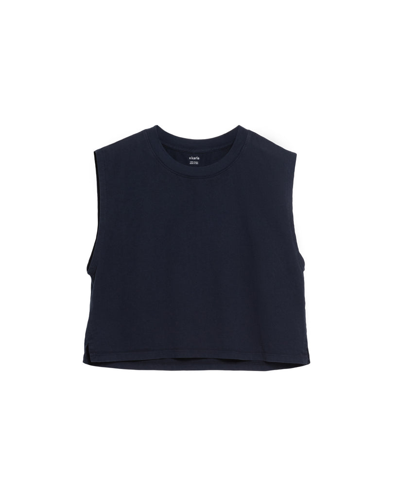 The Sleeveless Crop (Navy) - x karla - x - karla - fashion - style - karla welch -