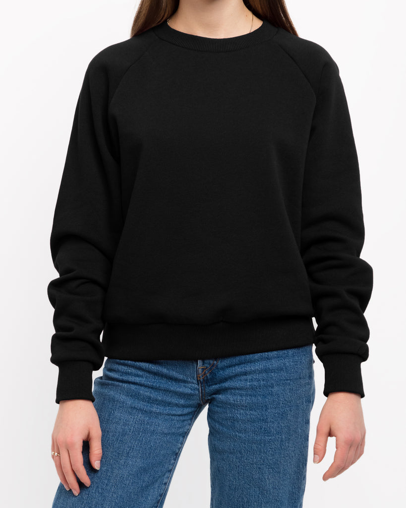 The Raglan Crew Neck (Black) - x karla - x - karla -