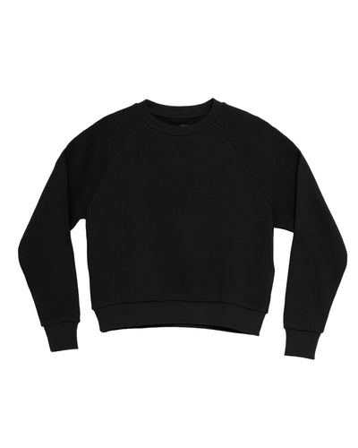 The Raglan Crew Neck in Black - x karla - x - karla - fashion - style - karla welch -