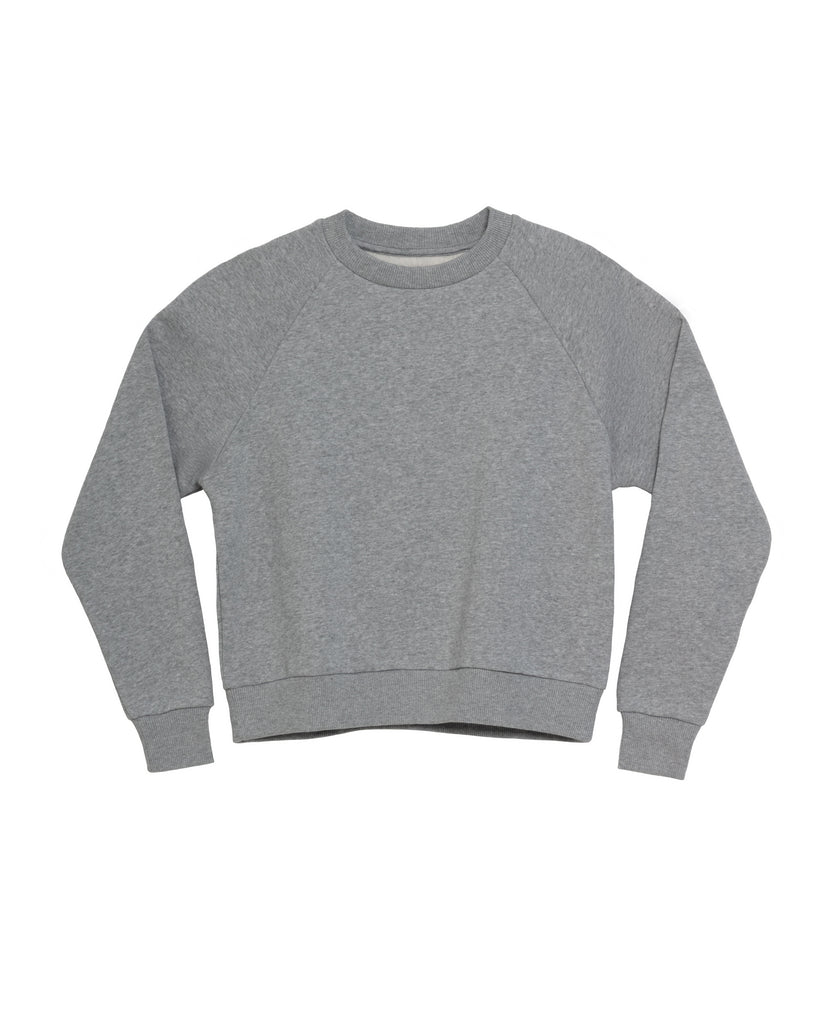 The Raglan Crew Neck in Heather Grey - x karla - x - karla - fashion - style - karla welch -