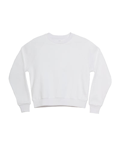 The Raglan Crew Neck in White - x karla - x - karla - fashion - style - karla welch -