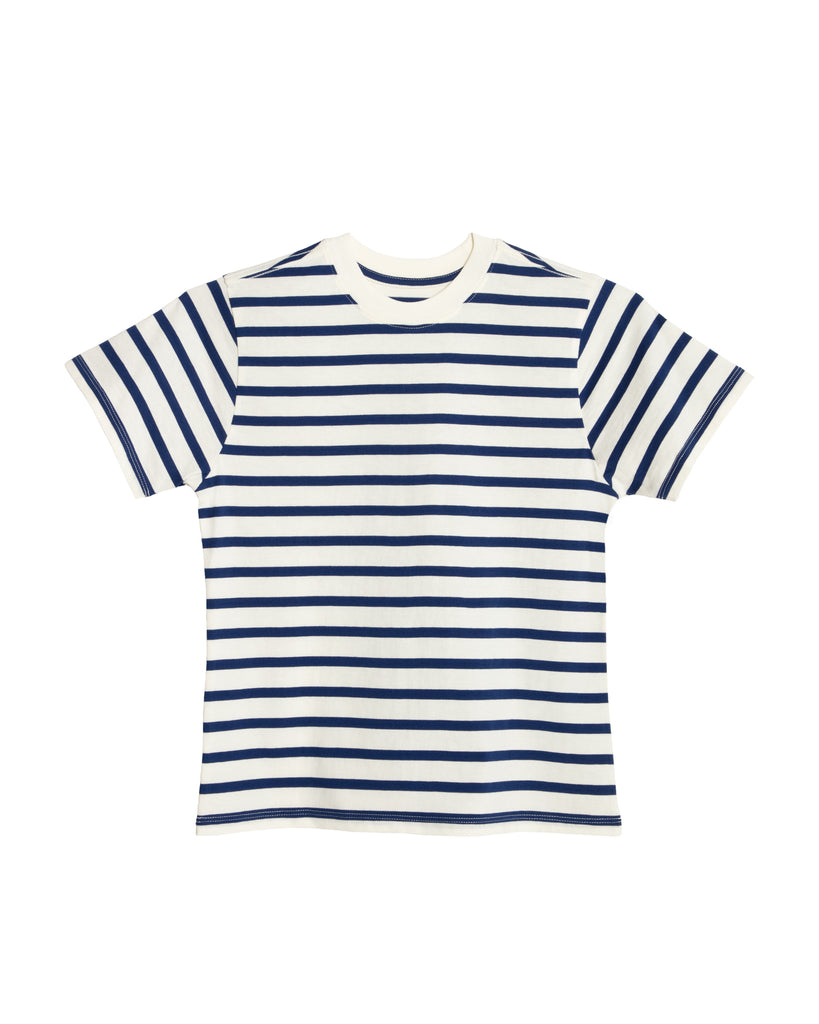 xkarla stripes collection short sleeve crew white navy 2