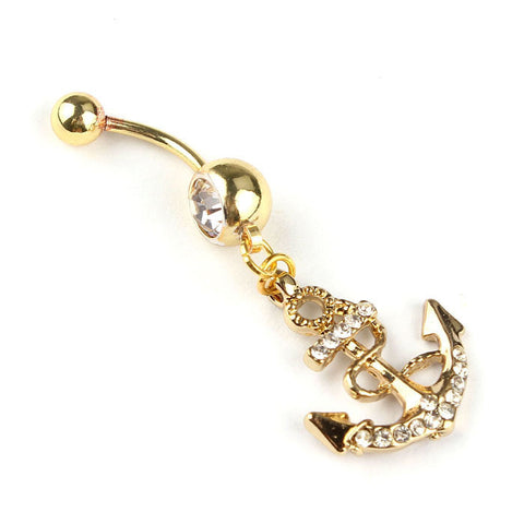 Body Jewelry Crystal  Navel Dangle Belly Ring