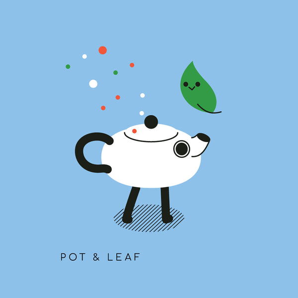 Pair Cupworks Mascots Pot & Leaf