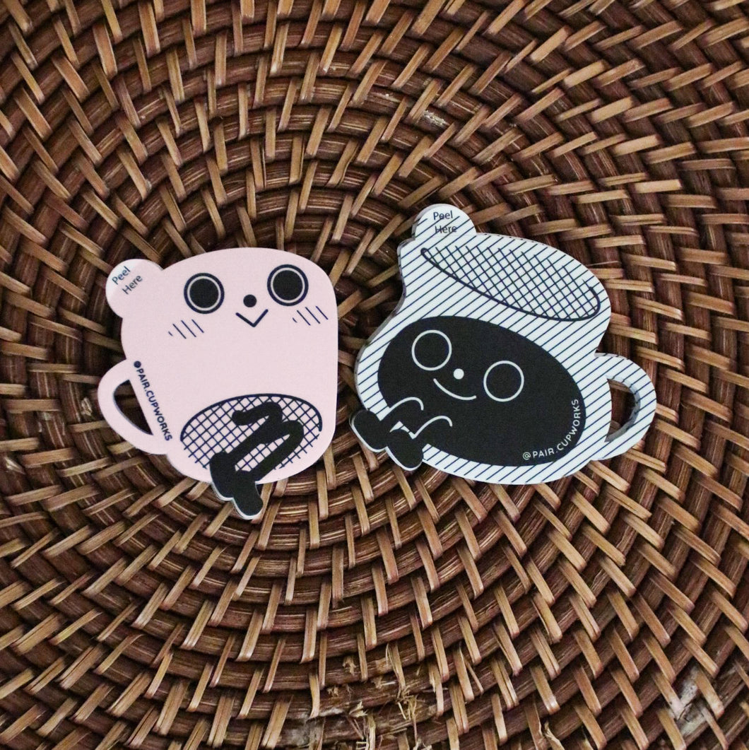 Pair of Cute Vinyl Stickers