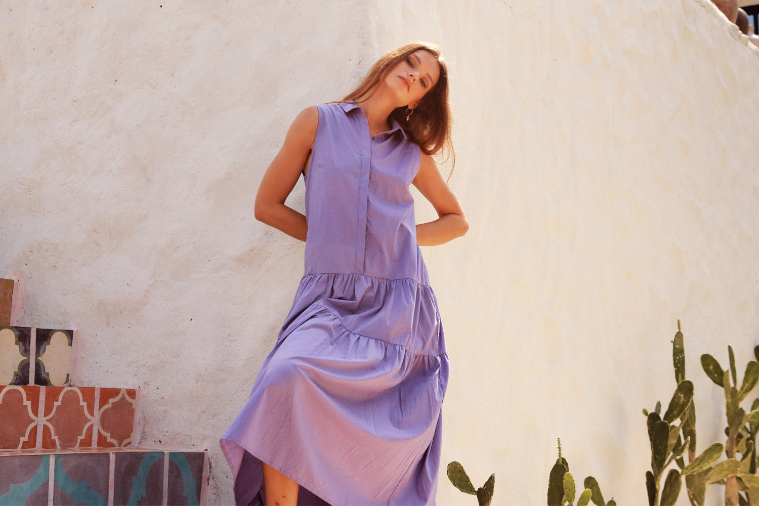 La Confection purple dress