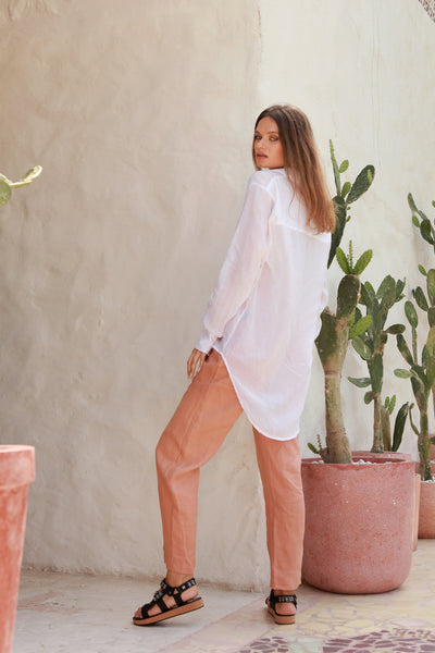 Iva - Pant in Coppertant Linen