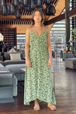 Bambi - Slip Maxi Dress in Ivy Dill and Birch