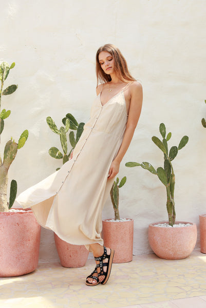 Bambi - Slip Maxi Dress in Bircher