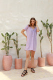 Ostuni - Draw String Aline Dress in Lavender
