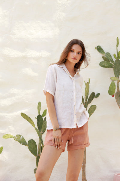 Joie - Short in Coppertant Linen