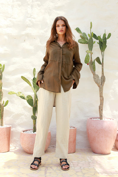 Iva - Pant in Bircher Linen