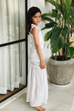 Levant Kids - Shirring Long Dress in White