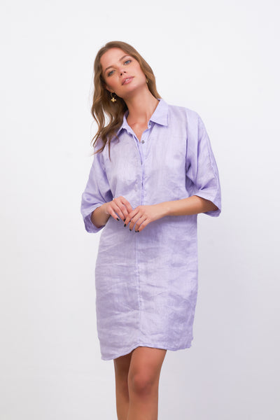 Lillie - Dress in Lavender Linen
