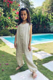 River - Kids Unisex Jumpsuit in Linen Bircher