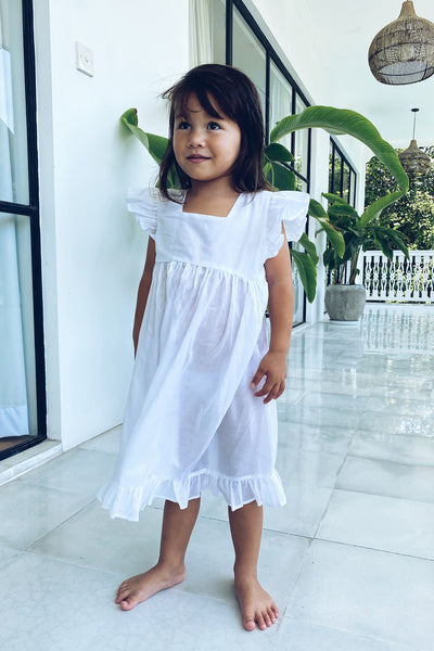 Skyler - Kids Dress in White